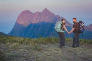 Nós, felizes por mais um desafio superado. Vista do Pico Paraná.